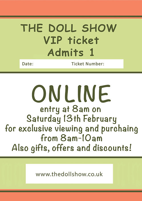 Online VIP ticket, February 2021 Show