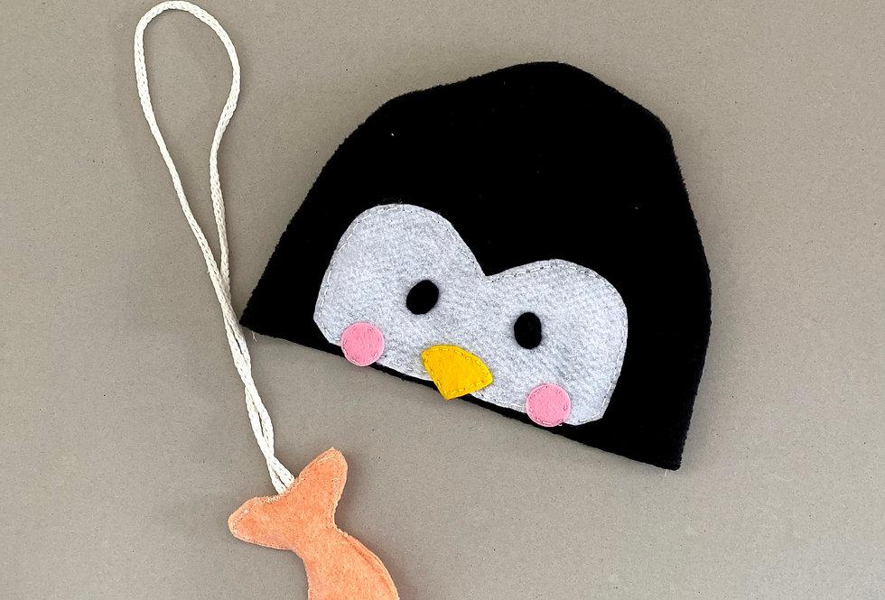 ערכה להכנת כובע של פינגווין ושרשרת של דג