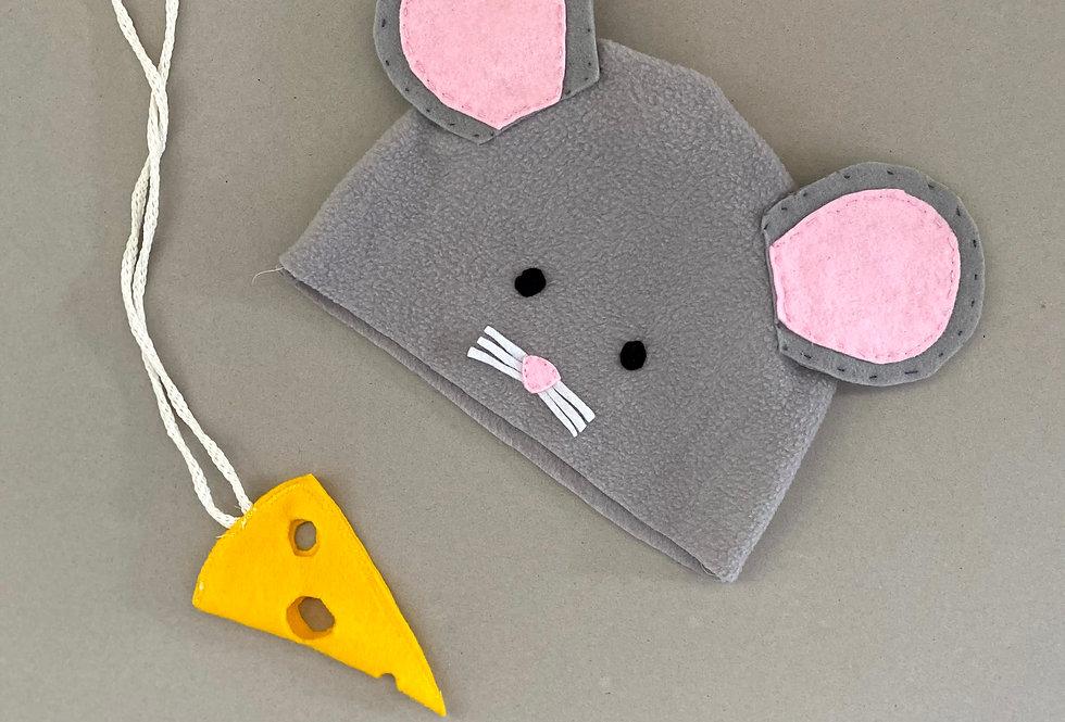 ערכה להכנת כובע של עכבר ושרשרת גבינה