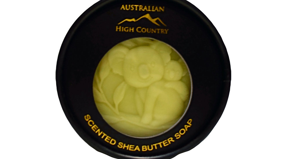 Australian made ,scented Shea butter soap, infused with Lemon Myrtle oil.