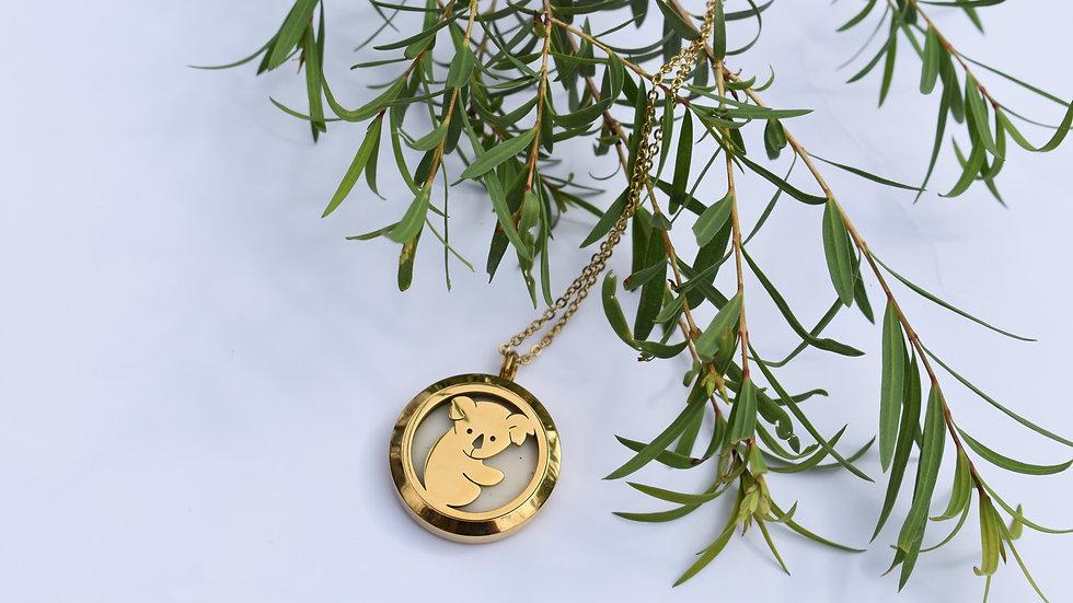 Solid perfume Koala necklace locket