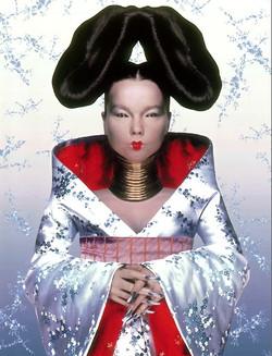 Björk wearing Alexander McQueen
