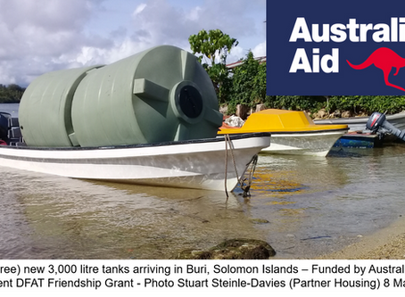 Water Reticulation now up and running in Solomon Islands