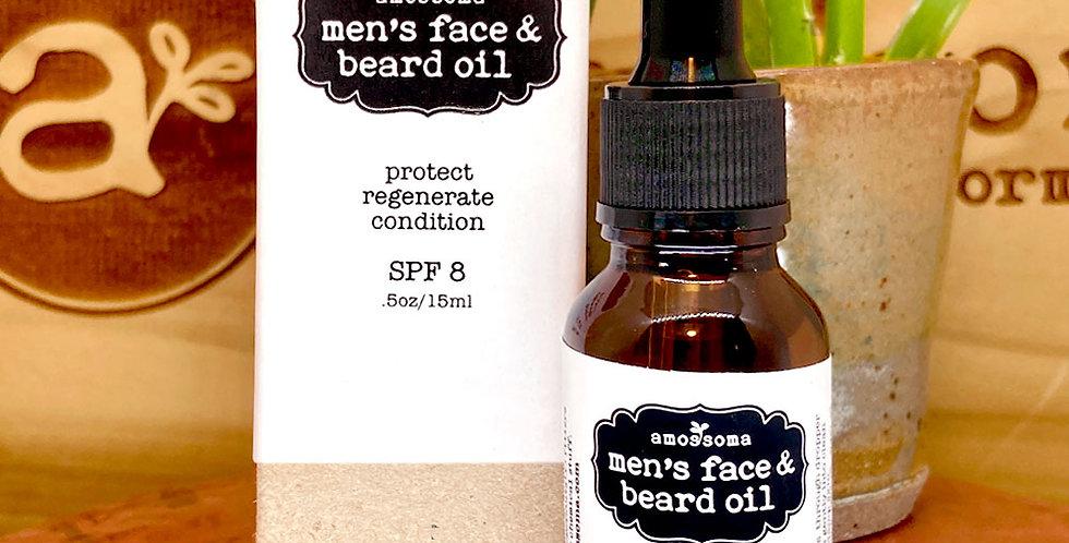 men's face & beard oil spf 10 05.oz