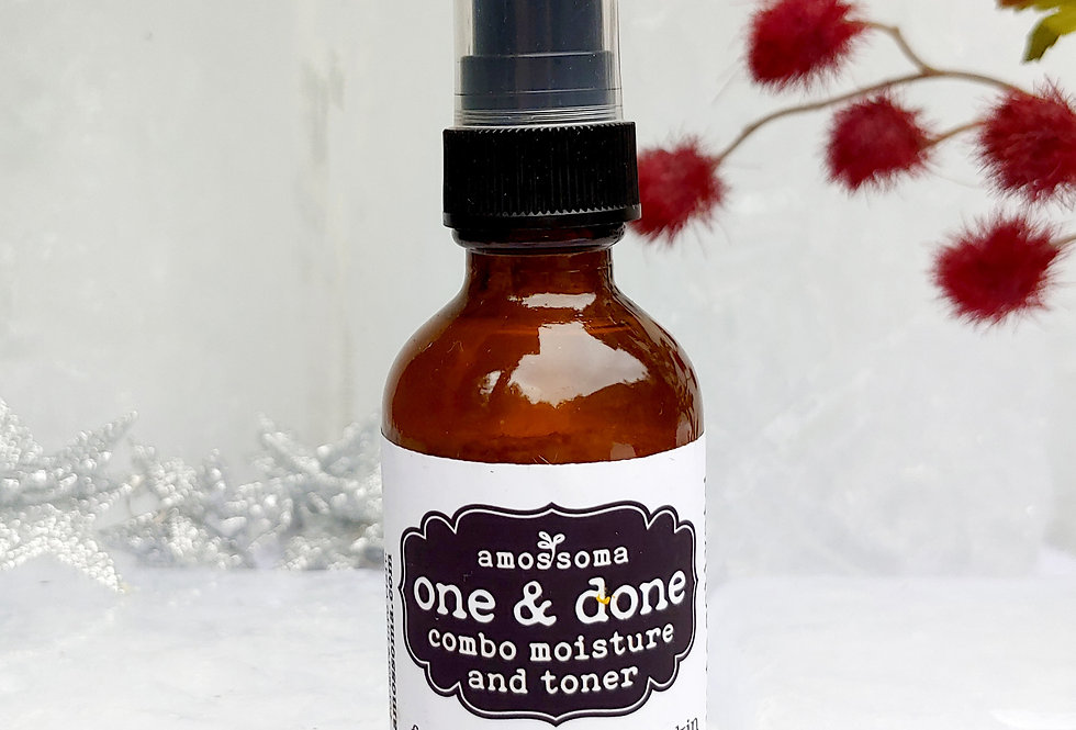 one & done combo moisture and toner 2oz / 60ml