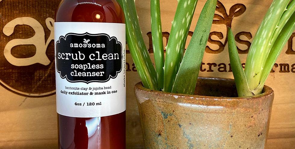 scrub clean soapless cleanser 4oz/120ml
