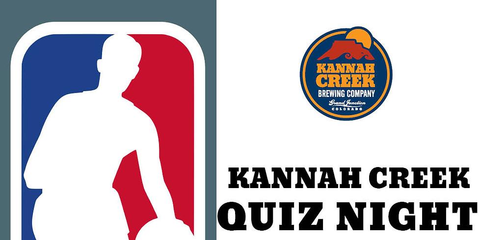 Kannah Creek Quiz Night:NBA