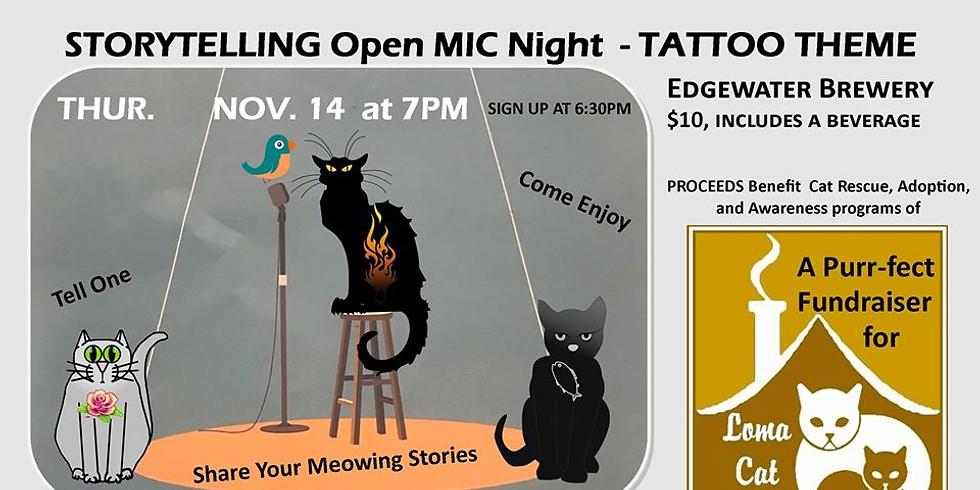 Storytelling Open Mic Night Loma Cat House Fundraiser