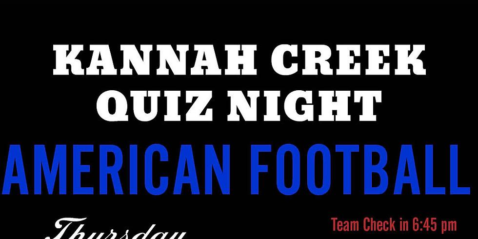 Kannah Creek Quiz Night: Football