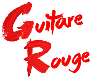 Guitare Rouge British rock façon frenchy logo