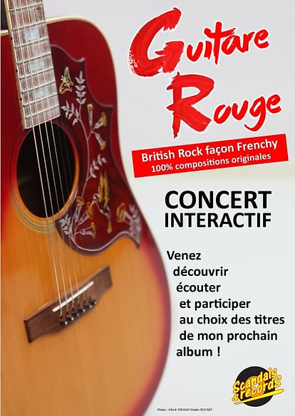 _Affiche Guitare Rouge Concerts interact