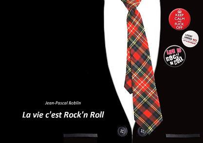 Guitare Rouge British rock façon frenchy Livre La Vie C'est Rock'n Roll