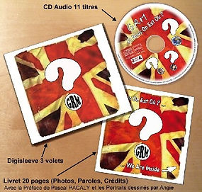 Guitare Rouge British rock façon frenchy CD album est nous on est où ? presentation packaging digisleeve 3 volets