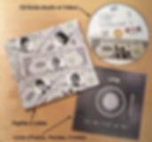 Guitare Rouge British rock façon frenchy EP le hic c'est le fric presentation CD hybride