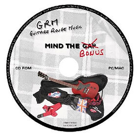 Guitare Rouge British rock façon frenchy CD album Mind The Gap Bonus