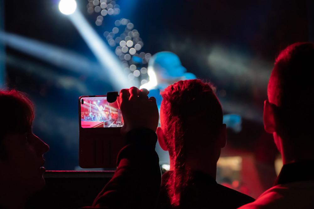 At night, music concerts are held on Krafting Festival in Makarska