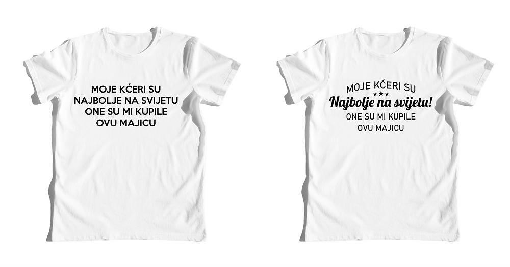 Pozicije tiska na majicama, tipografija i fontovi