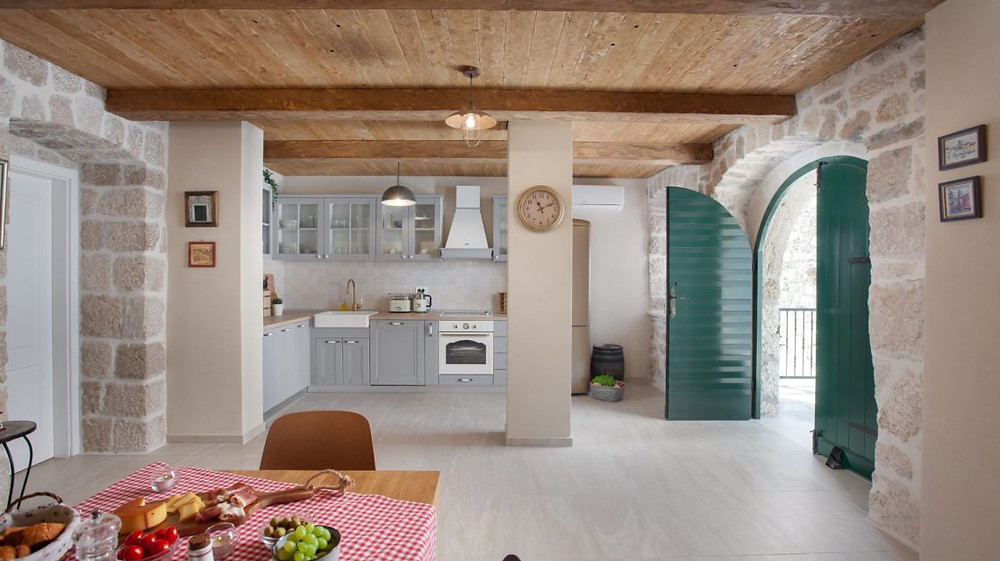 Spacious kitchen at Villa Nina in Tucepi near Makarska, Croatia