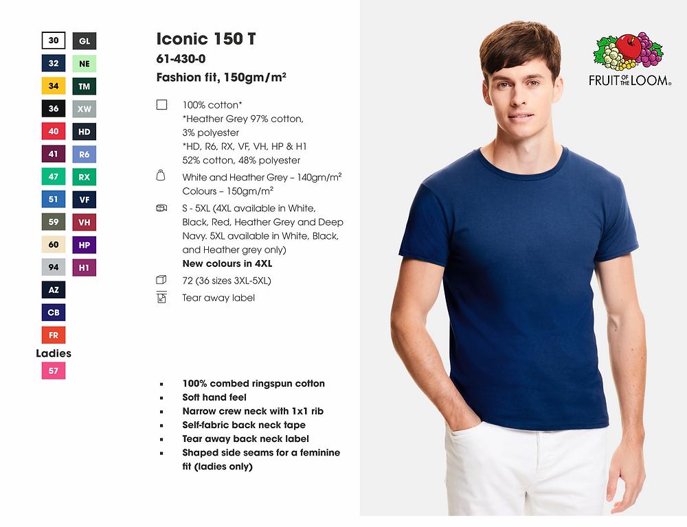 Specifikacija Fruit Of The Loom Iconic majica