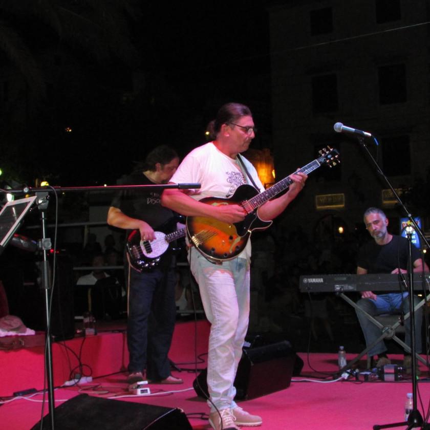 Rambo Amadeus playing guitar on the Makarska Jazz Festival