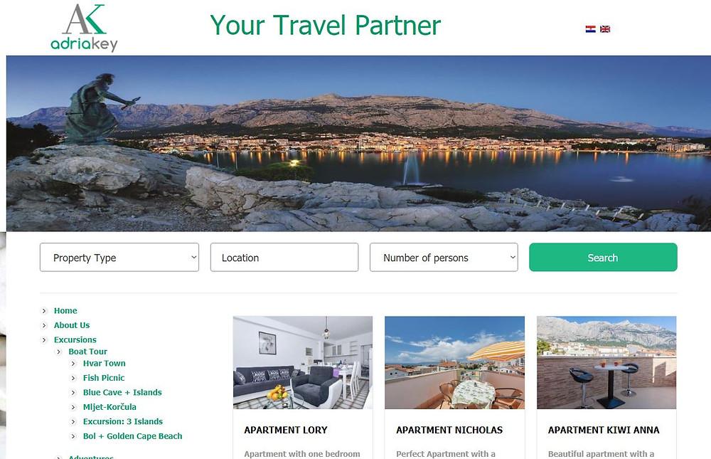 Adria Key accommodation in Makarska website
