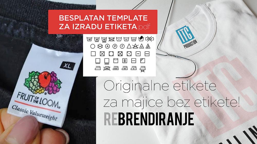Koristite preslikače za Izradu etiketa za majice