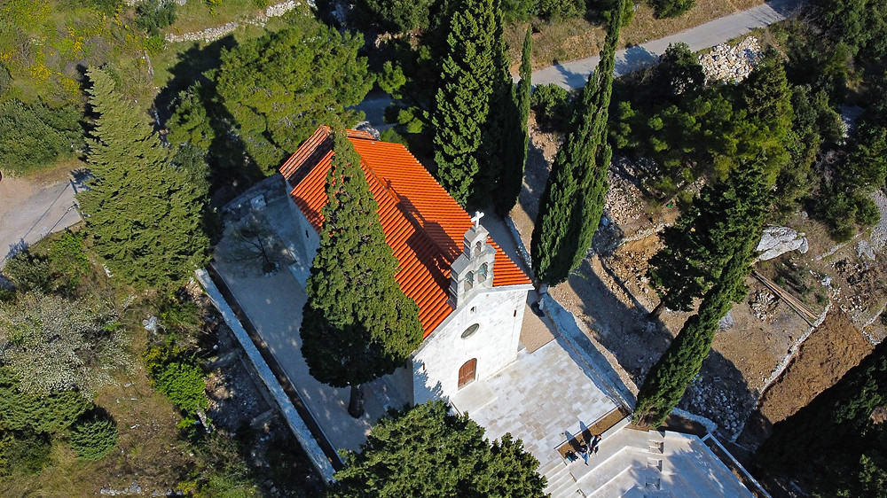 The church of St Anthony is the central point of Kotisina village near Makarska in Croatia