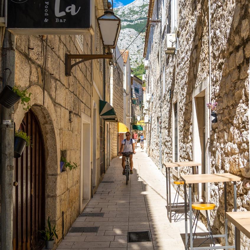 Old street in Makarska