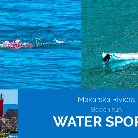 Water sports on the Makarska beach