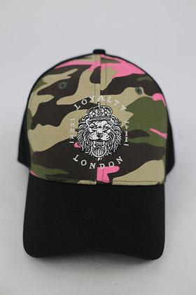 Army Green/Pink Camo Baseball Caps