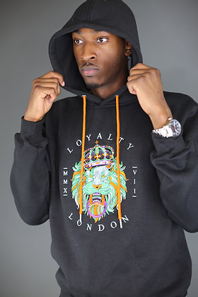Men's Multicoloured Embroidery Hoodie