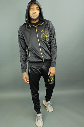 Gold Edition Hoodie Tracksuit (Tight Fit Bottoms)