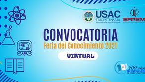 Convocatoria Feria del Conocimiento 2021