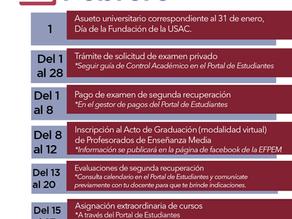 Calendario de actividades de febrero 2021