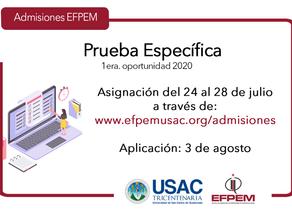 Aspirantes a ingresar a la EFPEM ciclo 2021