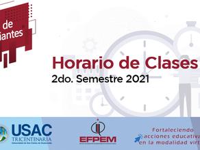 Horario de clases 2do. semestre 2021