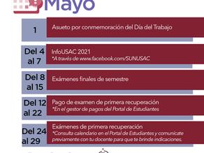 Calendario Actividades Mayo 2021