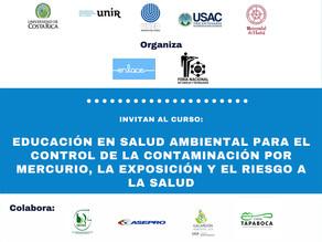 """Curso """"Educación en salud ambiental para el control de la contaminación por mercurio"""""""