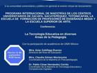 """Conferencia """"La tecnología educativa en diversas áreas de la pedagogía"""""""
