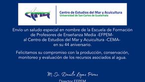 Felicitación al CEMA en su 44 aniversario