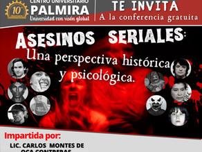 """Conferencia: """"Asesinos seriales. Una perspectiva histórica y psicológica""""."""