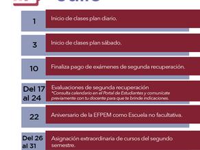 Calendario de actividades de Julio