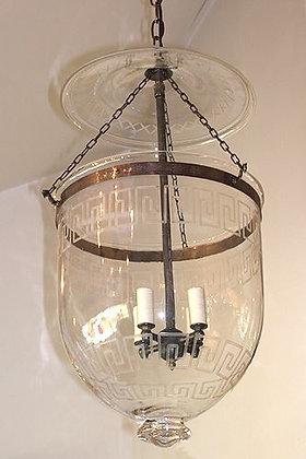 Double Greek Key Bell Jar