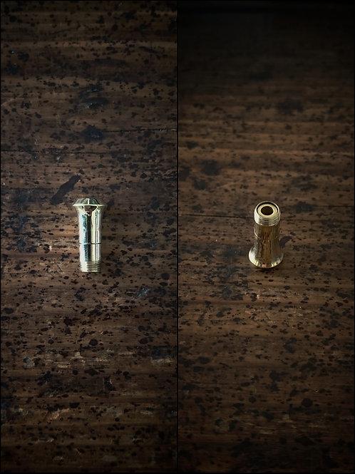 ダーツバレル変換パーツ穴有2BA規格 真鍮製