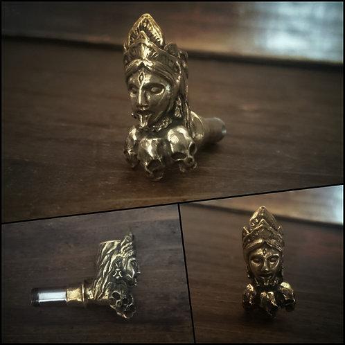 殺戮の女神カーリー横型火皿パーツ 真鍮製