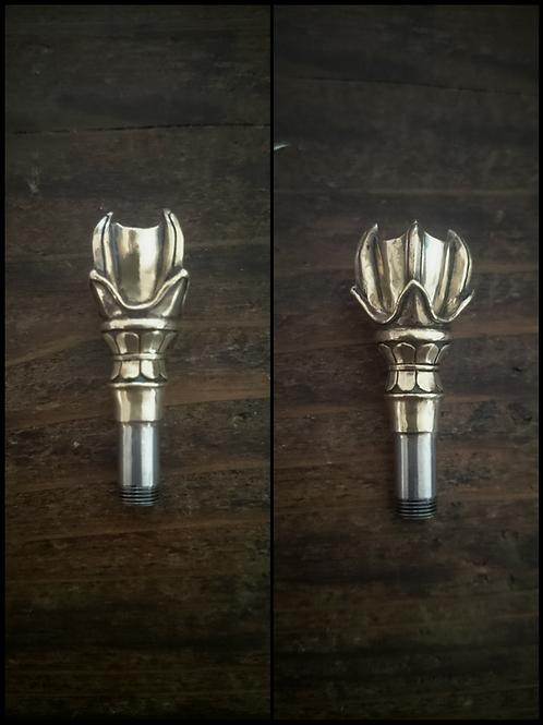 錫杖縦型火皿 真鍮製