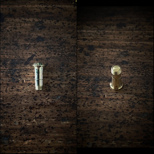 ダーツバレル変換パーツ穴無2BA規格 真鍮製