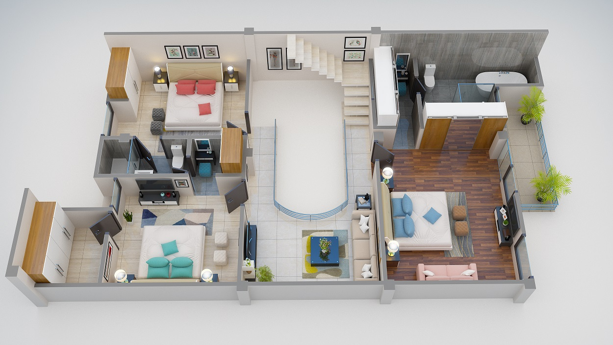 1st Floor 3D-View