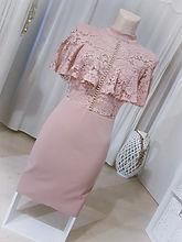 robe chic rose dentelle chocolat boutiqu