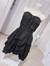 robe bustier noire dentelle chocolat bou